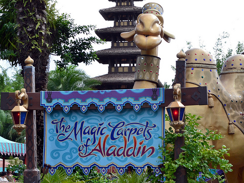 Flying Carpets: l'attrazione di Aladdin al Magic Kingdom